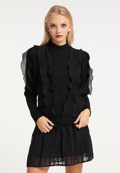 myMo ROCKS Pullover in schwarz, Modelansicht