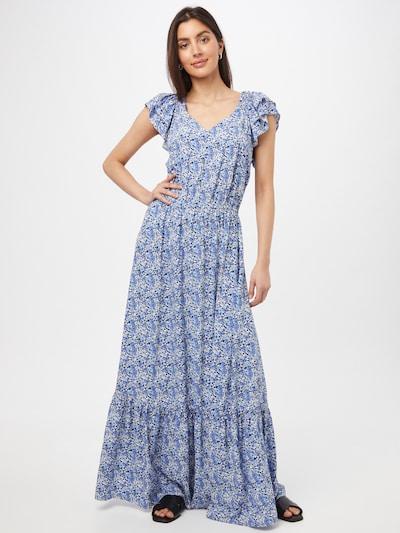 Claire Kleid in blau / hellblau / weiß, Modelansicht