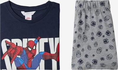 MANGO KIDS Schlafanzug in dunkelblau / grau / rot / weiß, Produktansicht