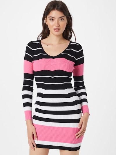 Rochie tricotat GUESS pe roz / negru / alb, Vizualizare model