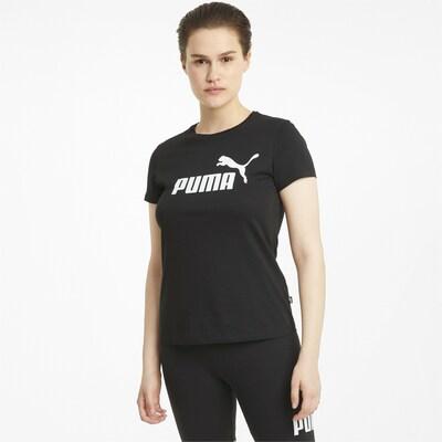 PUMA Sporta krekls, krāsa - melns / balts: Priekšējais skats