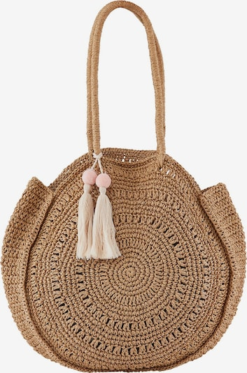 PIECES Beach bag in Light brown / Dusky pink, Item view