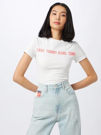 Tommy Jeans Bodi majica | rdeča / bela barva: Frontalni pogled
