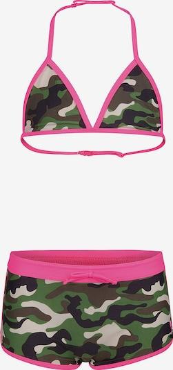 WE Fashion Bikini in braun / grün / pink / schwarz / weiß, Produktansicht
