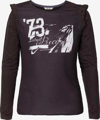 Petrol Industries Langarmshirt in schwarz / silber, Produktansicht