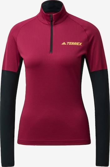 ADIDAS PERFORMANCE Functioneel shirt in de kleur Geel / Wijnrood / Zwart, Productweergave