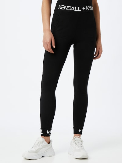 KENDALL + KYLIE Leggings en noir / blanc, Vue avec modèle
