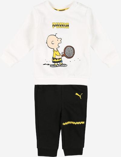 PUMA Jogginganzug in gelb / rosa / schwarz / weiß, Produktansicht