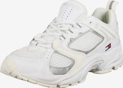 Tommy Jeans Baskets basses en gris argenté / blanc / blanc naturel, Vue avec produit