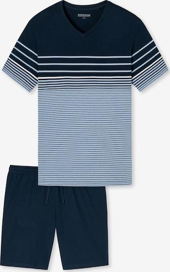 SCHIESSER Kurzarm Schlafanzug ' selected! premium inspiration ' in hellblau / dunkelblau, Produktansicht