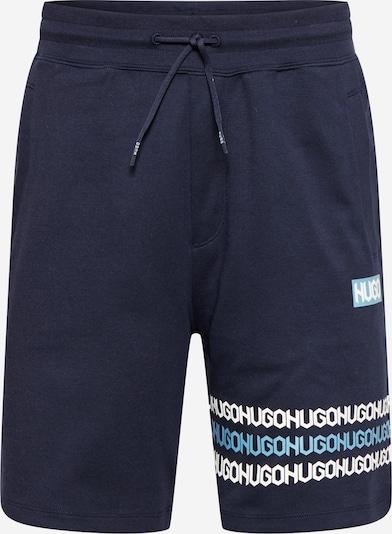 HUGO Hlače 'Dakumi' u mornarsko plava / sivkasto plava / bijela, Pregled proizvoda