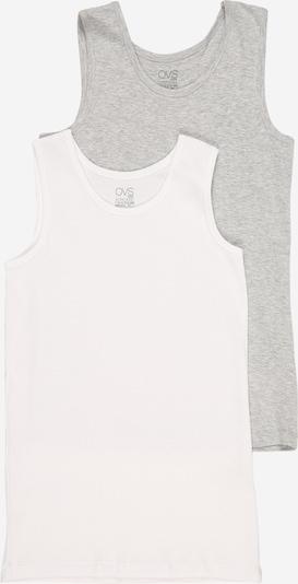 OVS Onderhemd in de kleur Grijs gemêleerd / Wit, Productweergave