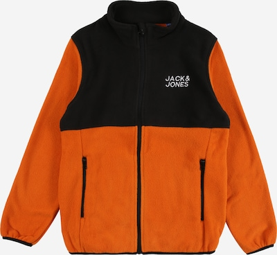 Jack & Jones Junior Chaqueta polar 'HYPE' en naranja oscuro / negro / blanco, Vista del producto