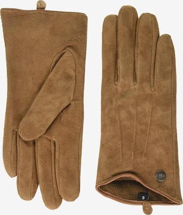 Barts Full finger gloves 'Christina' in Brown