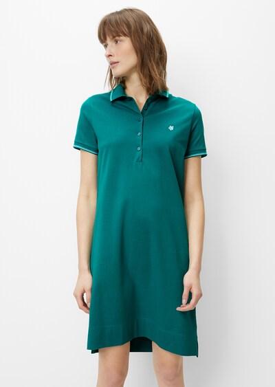 Marc O'Polo Blusenkleid in smaragd / weiß, Modelansicht