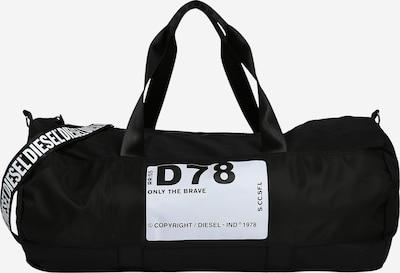 DIESEL Bolsa de viaje en negro / blanco, Vista del producto