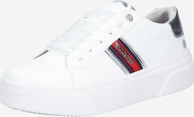 Dockers by Gerli Sneakers laag in de kleur Donkerblauw / Rood / Zilver / Wit, Productweergave