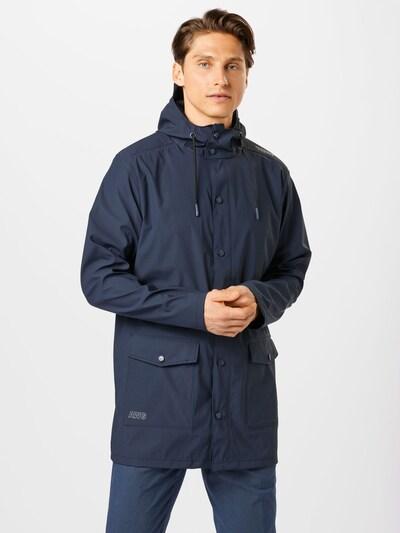 Weather Report Outdoorjas 'Erik' in de kleur Navy / Wit: Vooraanzicht