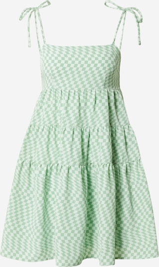 Fashion Union Vasaras kleita 'Sheryl', krāsa - zaļš / balts, Preces skats