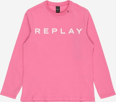 REPLAY Shirt in pink / weiß, Produktansicht