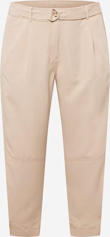 Pantaloni 'Lotta' de la SAMOON pe bej