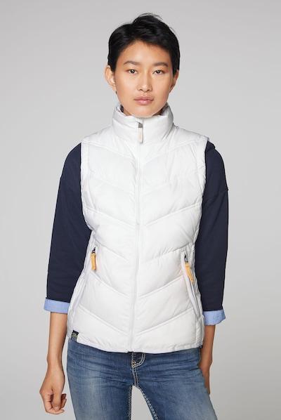 Soccx Outdoorweste mit Zippertaschen in weiß, Modelansicht