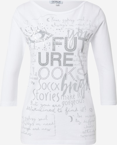 Soccx Shirt in de kleur Grijs / Wit, Productweergave