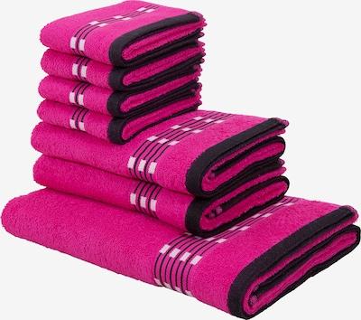 MY HOME Handtuch in pink / schwarz / weiß, Produktansicht