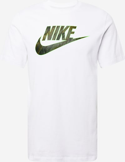 Nike Sportswear Shirt in grün / oliv / weiß, Produktansicht