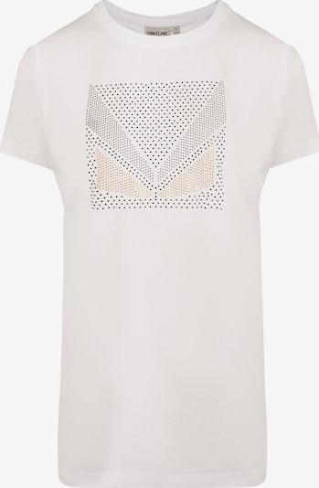 Finn Flare T-Shirt mit Glitzersteinen in mischfarben / weiß, Produktansicht
