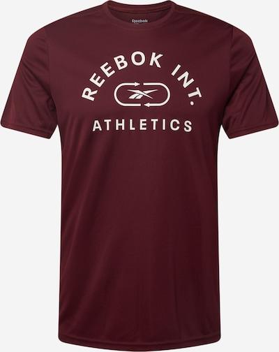Reebok Sport Functioneel shirt in de kleur Bordeaux / Wit, Productweergave