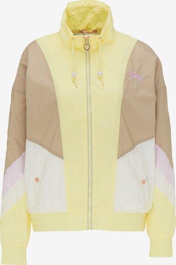 Geacă de primăvară-toamnă MYMO pe bej deschis / galben / mov pastel / alb, Vizualizare produs