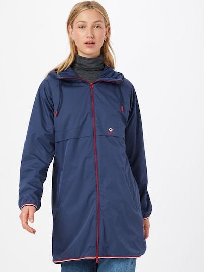 Blutsgeschwister Between-seasons coat in marine blue / Red / White, View model