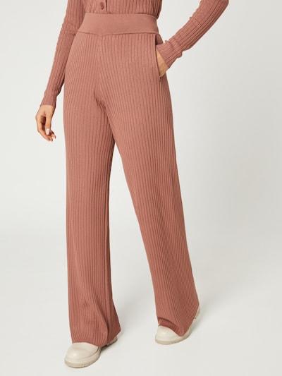 Guido Maria Kretschmer Collection Pantalon 'Fleur' en marron, Vue avec modèle