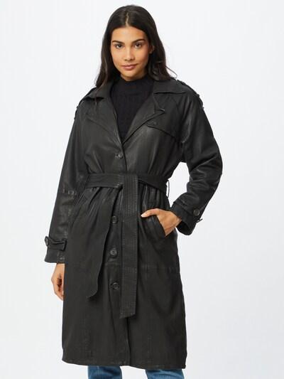 Goosecraft Mantel 'Slouchy' in schwarz, Modelansicht