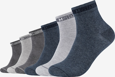 MUSTANG Kurzsocken in blau / grau / hellgrau, Produktansicht