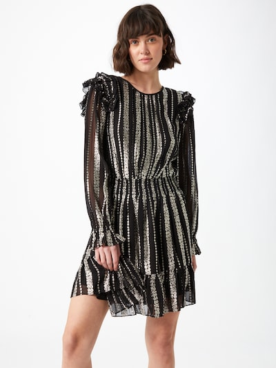 MICHAEL Michael Kors Kleid in silbergrau / schwarz, Modelansicht
