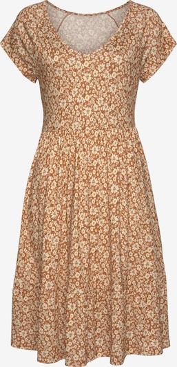 BUFFALO Kleid in creme / karamell / gelb, Produktansicht