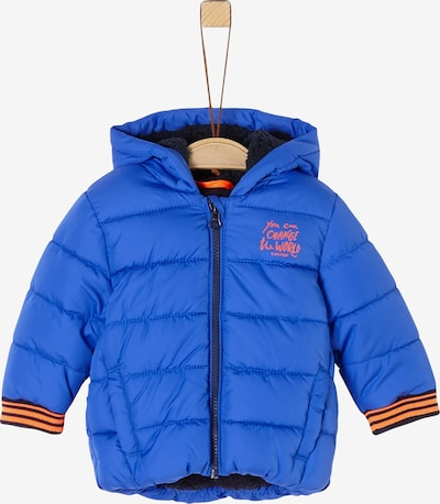 s.Oliver Winterjacke in royalblau / orange, Produktansicht