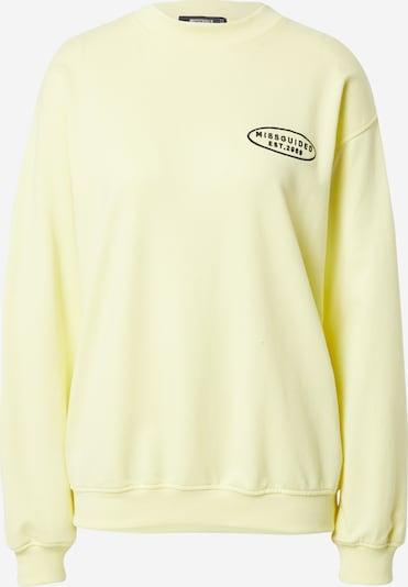 Missguided Sudadera en amarillo pastel / negro, Vista del producto
