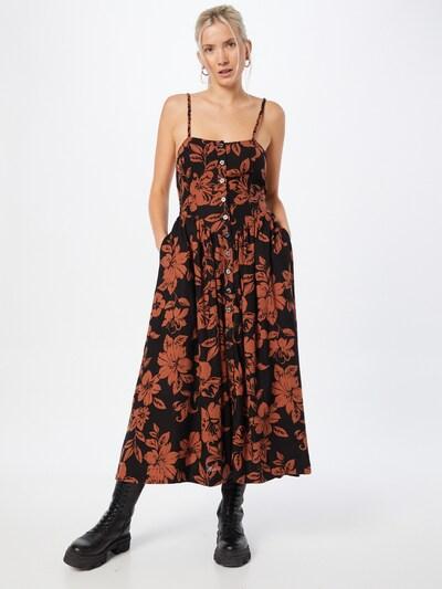 Free People Kleid in braun / schwarz, Modelansicht