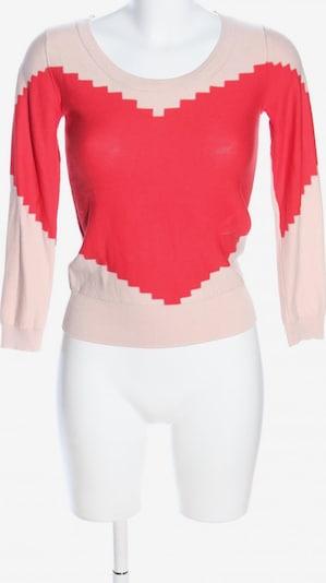 Sonia by SONIA RYKIEL Rundhalspullover in XS in creme / rot, Produktansicht