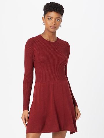 ONLY Gebreide jurk 'Alma' in Rood
