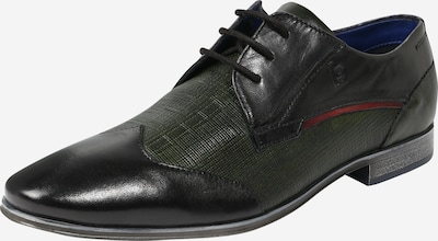 bugatti Šnurovacie topánky 'Morino' - antracitová / tmavozelená, Produkt