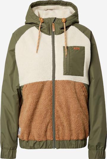 Iriedaily Between-Season Jacket in Caramel / Olive / Wool white, Item view