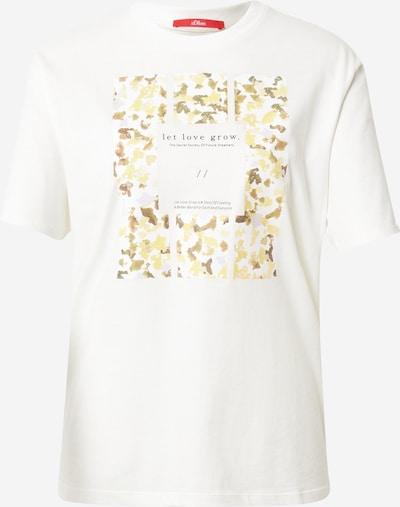 s.Oliver T-Shirt in grün / offwhite, Produktansicht