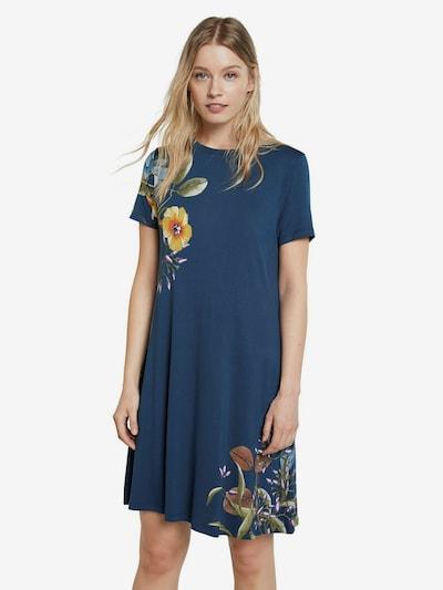 Desigual Kleid 'LAS VEGAS' in blau / hellblau / gelb / grün / lila, Modelansicht