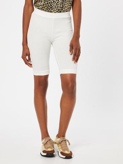 PIECES Leggings 'TAYA' en blanc, Vue avec modèle