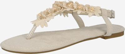Hailys Zehentrenner 'Sophia' in beige, Produktansicht