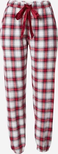 Hunkemöller Spodnji del pižame | temno rdeča / črna / bela barva, Prikaz izdelka